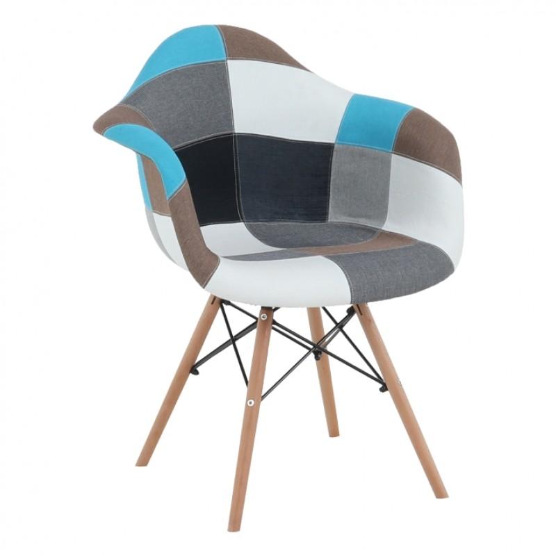 Fotoliu, textil patchwork/fag, KUBIS NEW TYP 2